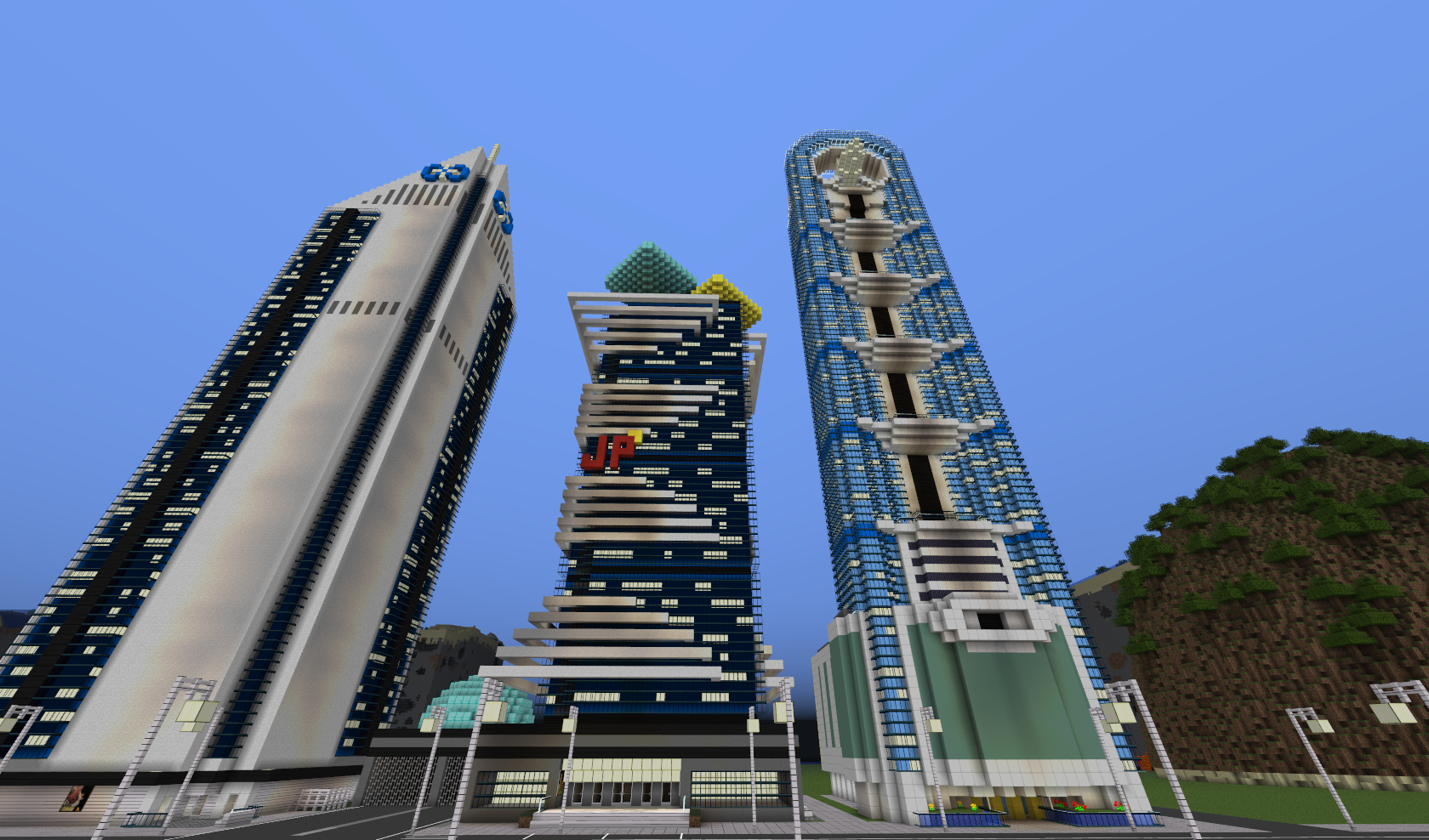 Map-ville-newcraft-vecter-city-minecraft-building