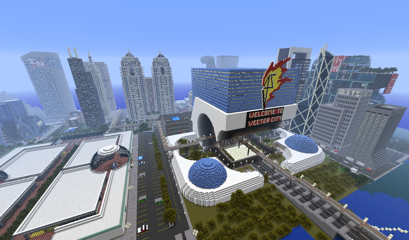 Map-ville-newcraft-vecter-city-minecraft-centre-ville