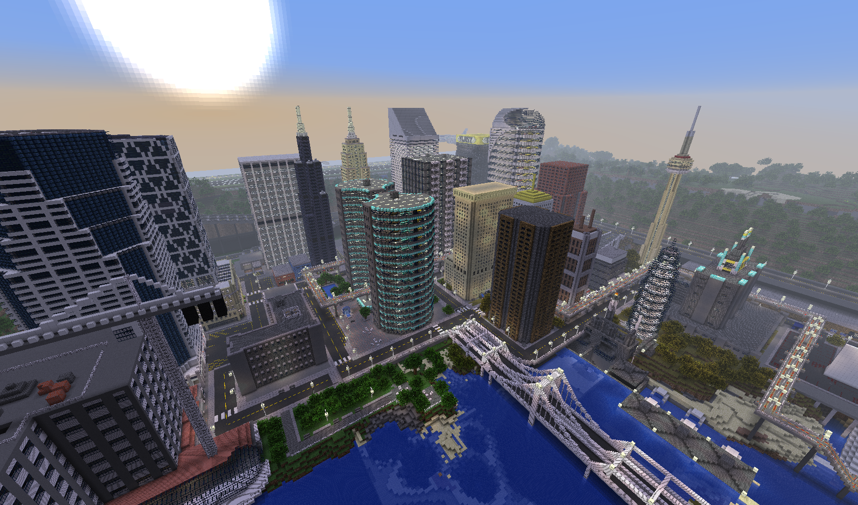 Map-ville-newcraft-vecter-city-minecraft