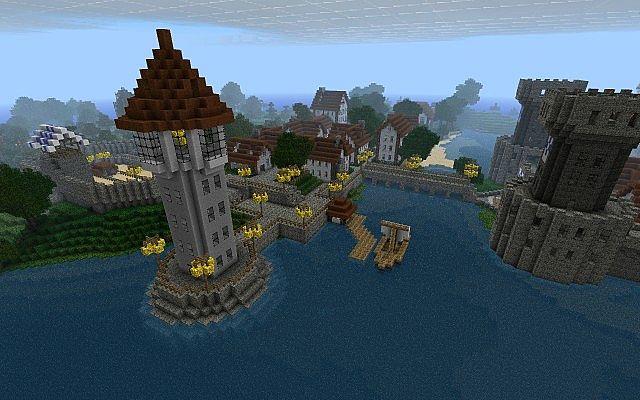 map-minecraft-Castle-Lividus-telecharger-port