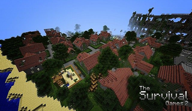 Map-minecraft-aventure-survival-the-survival-games-2-village