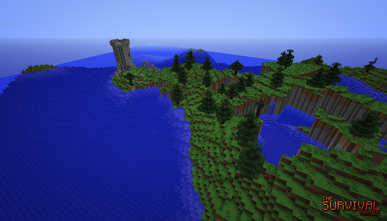 Minecraft-Map-aventure-survie-the-survival-games-nature