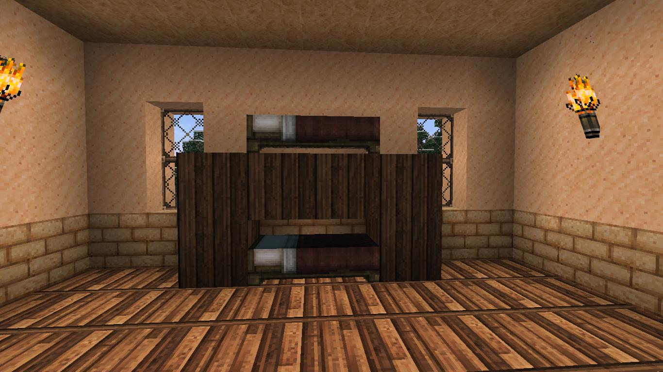comment faire un lit superpos dans minecraft minecraft. Black Bedroom Furniture Sets. Home Design Ideas