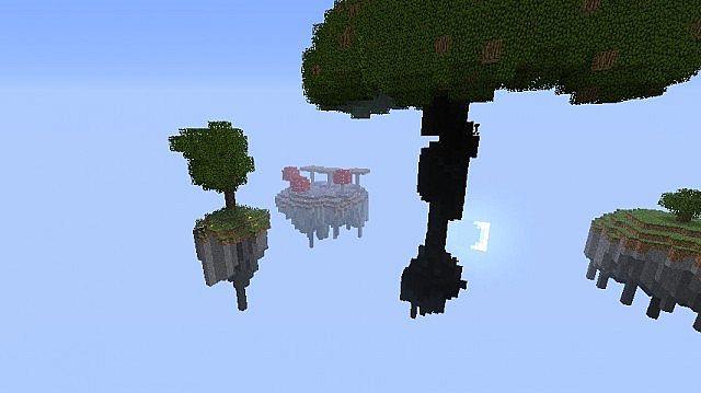 minecraft-map-survival-island-hunter-arbre-volant