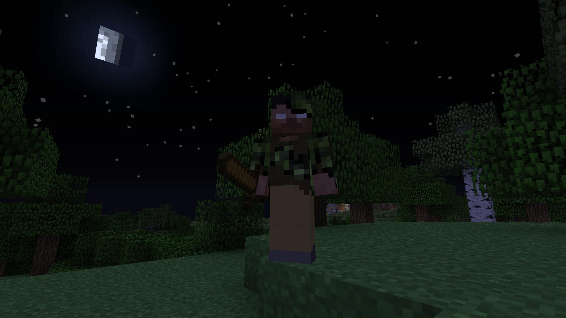 Minecraft mod aventure mob more herobrine forest
