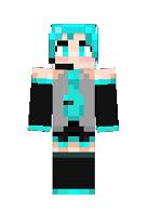 minecraft-skin-fille-Hatsune-Miku