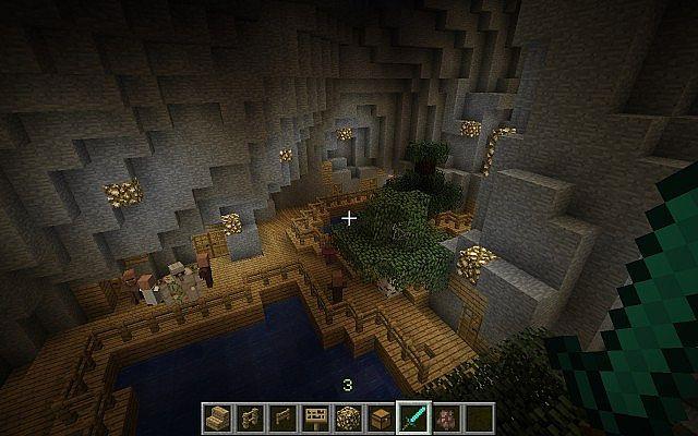 minecraft-map-ville-souterraine-village