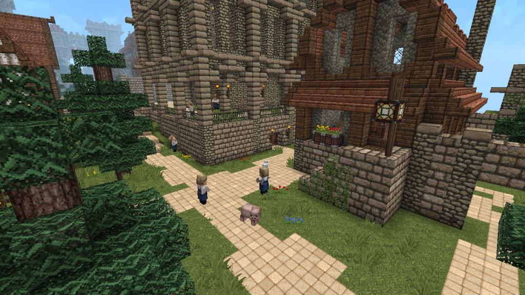 minecraft-map-village-médieval-solitude-pnj