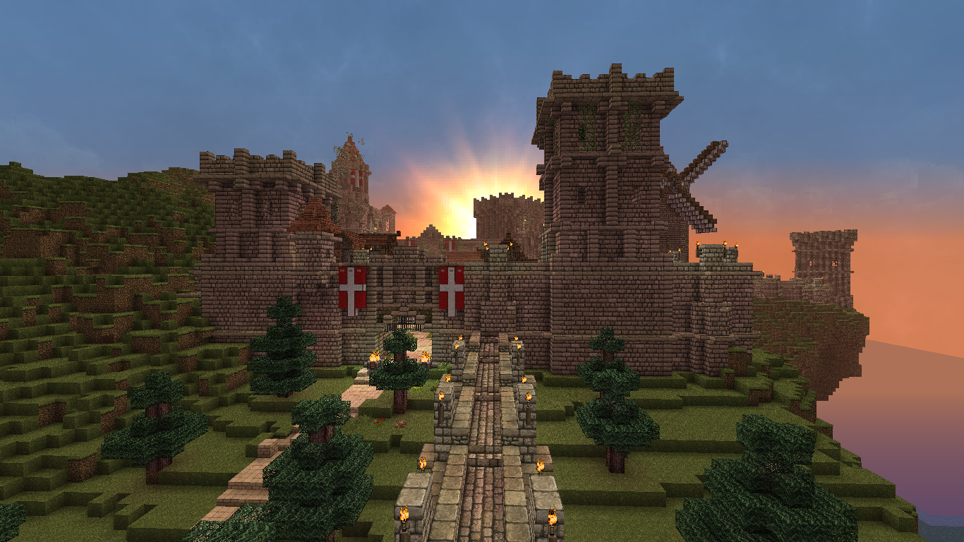 Minecraft medieval village for pinterest
