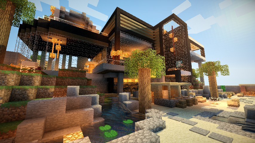 Top 10 des maisons minecraft Resource Pack Moderne 32×32 – 64×64 ...