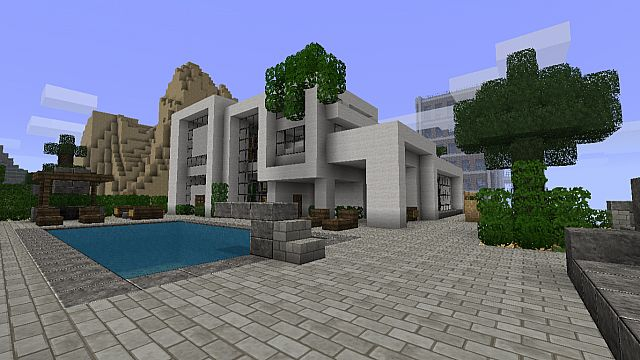 Top 10 des maisons minecraft minecraft for Minecraft maison moderne plan