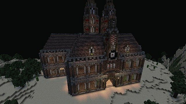 3.minecraft-maison-hantée-nuit