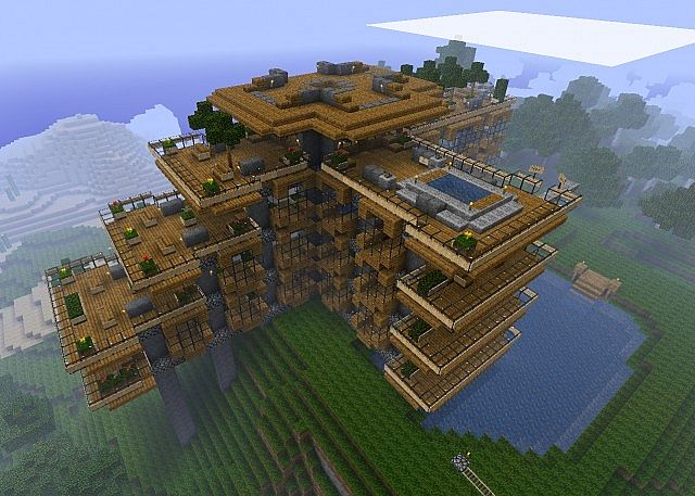 Top 10 des maisons minecraft minecraft for Minecraft maison design