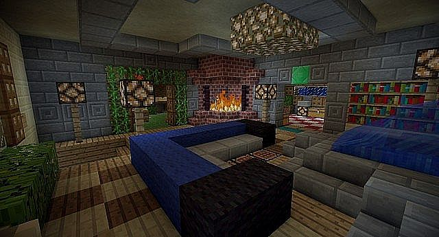 Interieur maison m di vale minecraft for Decoration maison minecraft