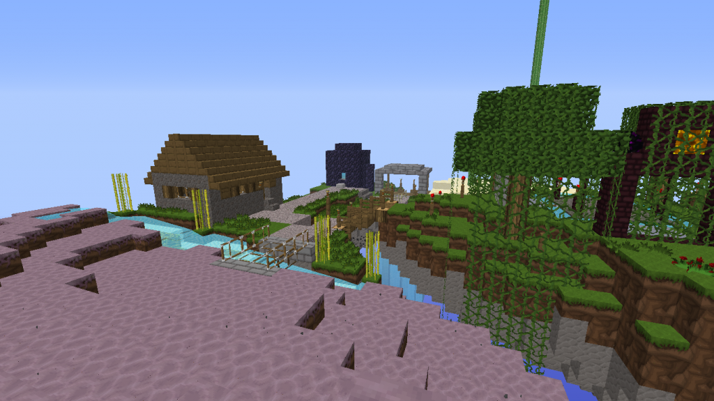 Minecraft-map-pvp-diamond-rush-ile