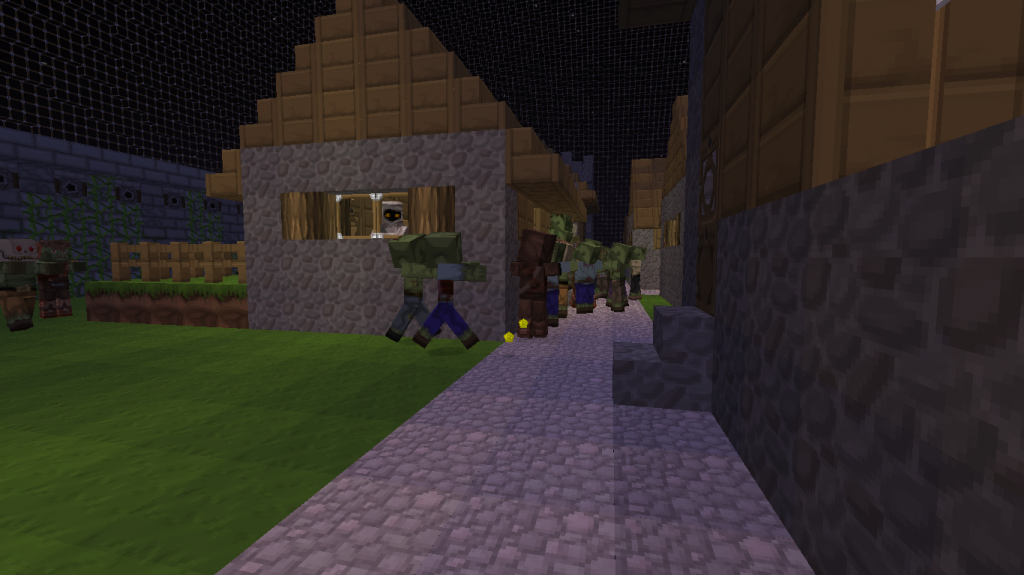 minecraft-map-survie-saves-the-village-from-zombies-attaque-zombies