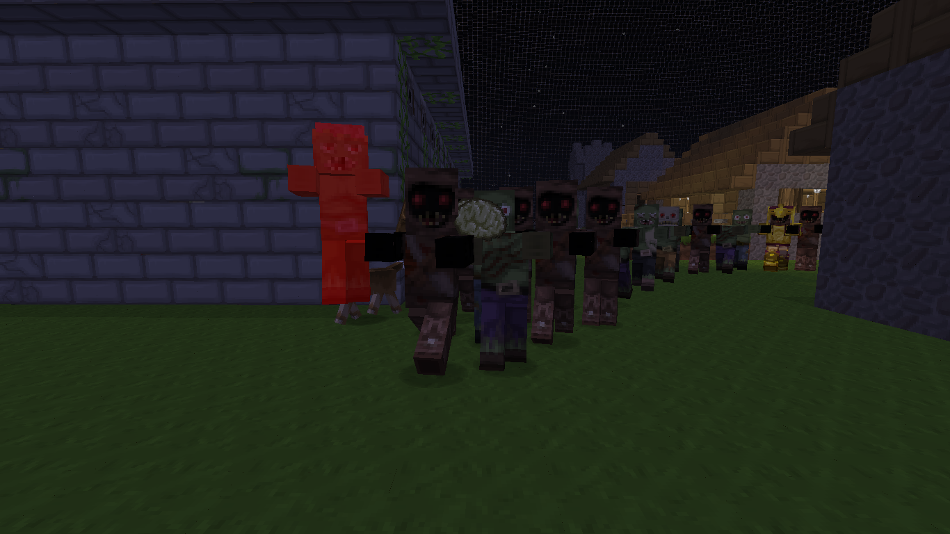 Map survie solo 1 5 1 save the village from zombies - Photo de zombie minecraft ...