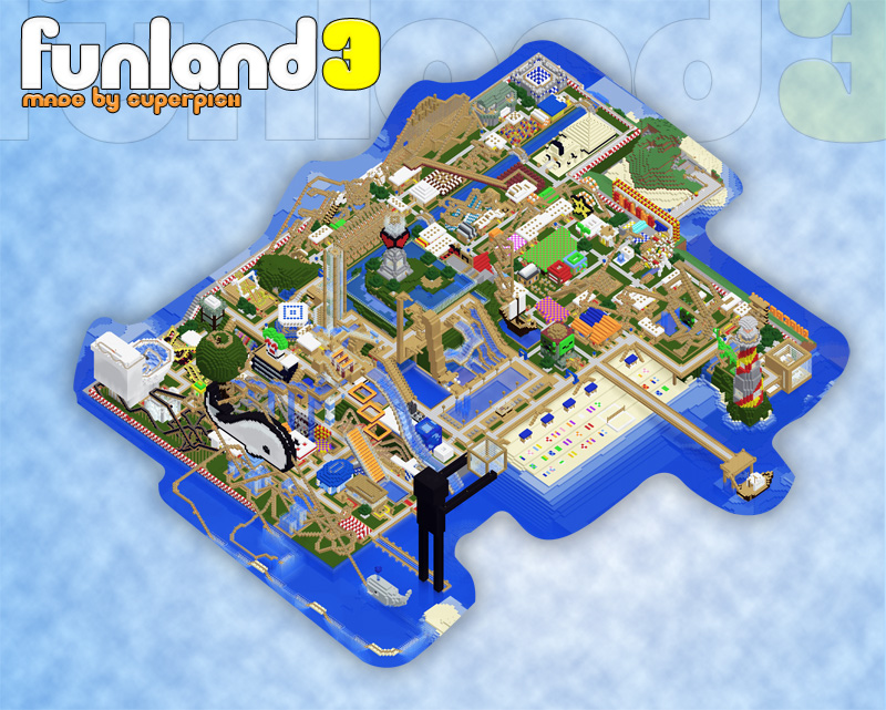Map minecraft parc d'attraction