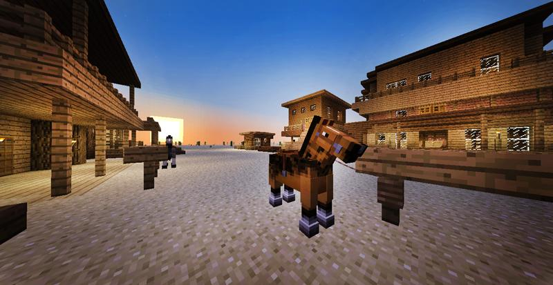 minecraft-map-survie-wild-west-cheval