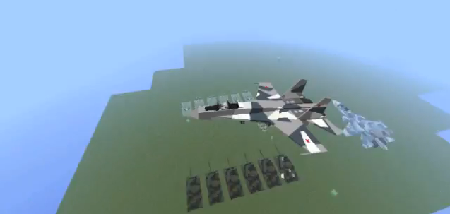 minecraft-mod-vehicule-flans-avion-chasse