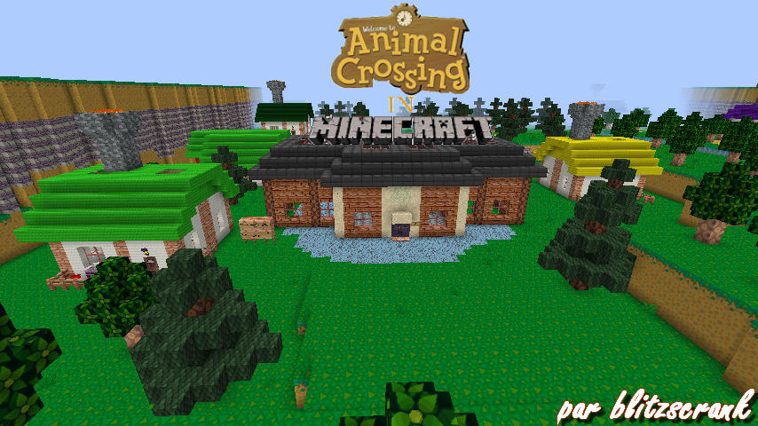 Map Survival Animal Crossing In Minecraft Minecraft Aventure Com