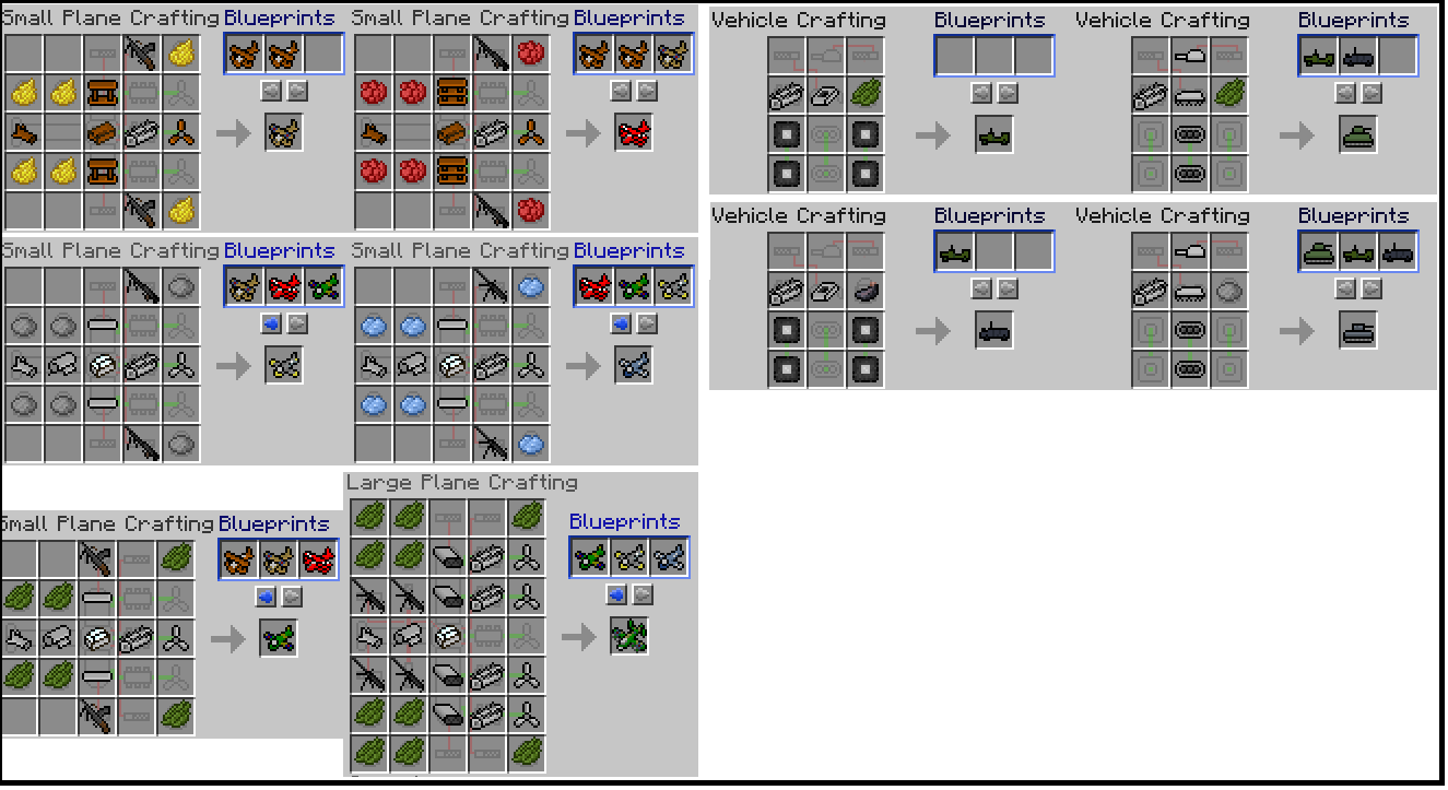 Flans Mod Crafting Recipes