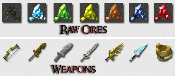 minecraft-texture-pack-element-rpg-armes-minerai