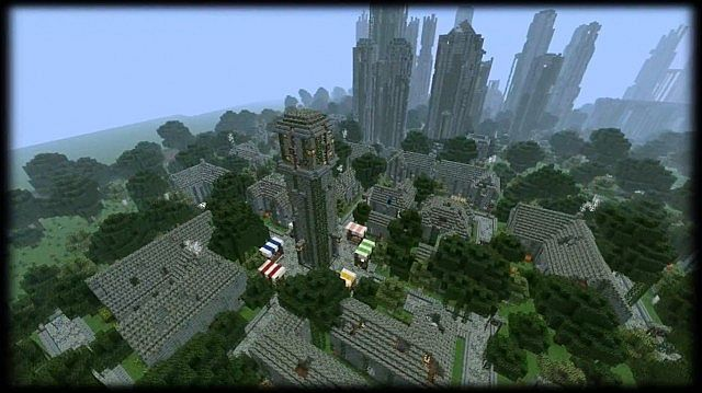 minecraft-map-ville-detruit-huge-abandoned-city