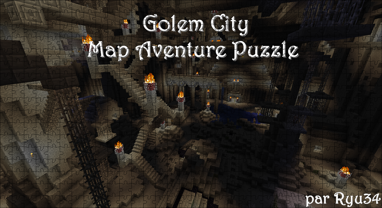 minecraft-map-puzzle-golem-city