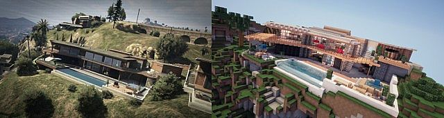 minecraft-gta-5-maison-franklin-comparaison