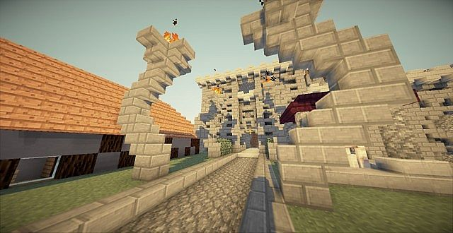 minecraft-resource-pack-hd-render-skeleton-village