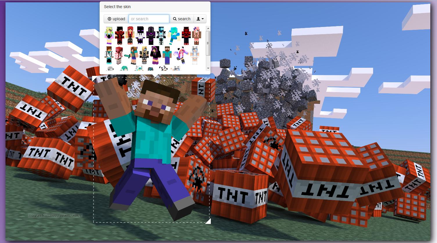 Wallpaper Minecraft Personnalisable Devenez Un Héros
