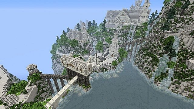 minecraft-map-rivendell-barage