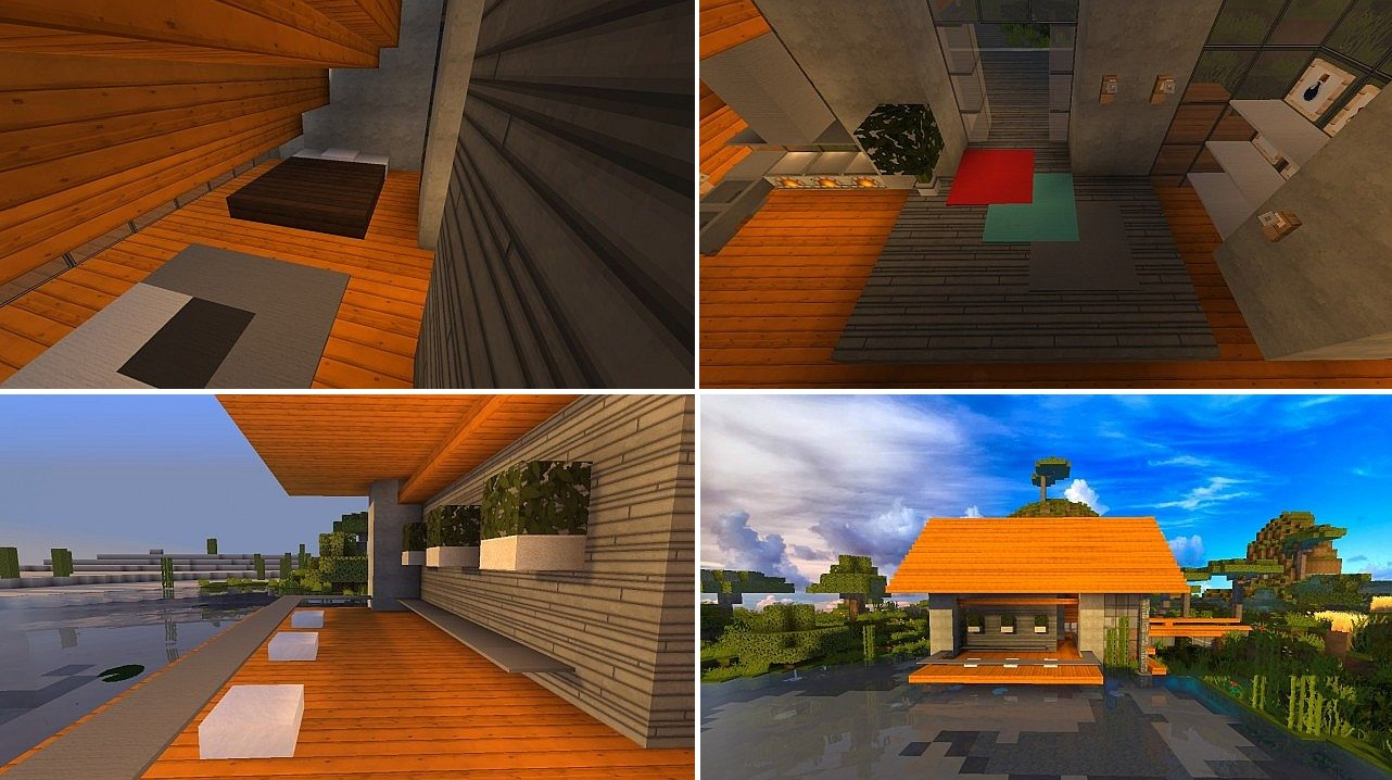 Top 5 des maisons modernes minecraft minecraft for Maison deco interieur moderne