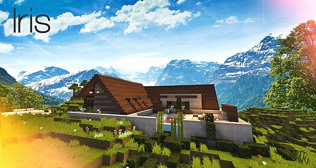 HD wallpapers minecraft maison moderne avec xroach