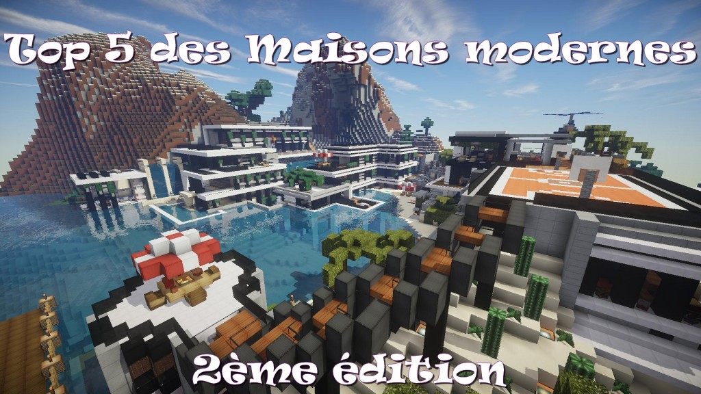 top 5 des maisons modernes minecraft minecraft aventure. Black Bedroom Furniture Sets. Home Design Ideas