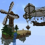 minecraft-map-ville-flotante-floating-keep-moulin