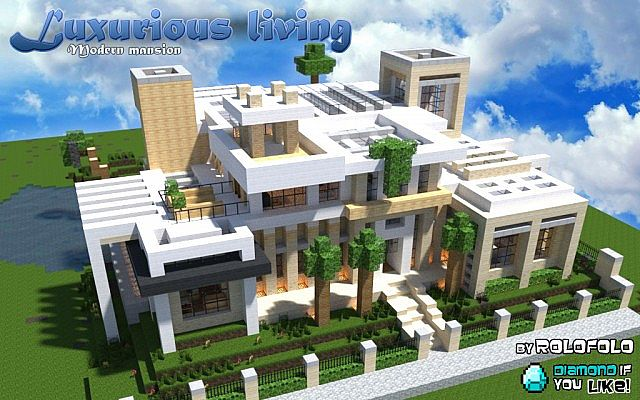 Minecraft Maison Moderne Luxurioux Living