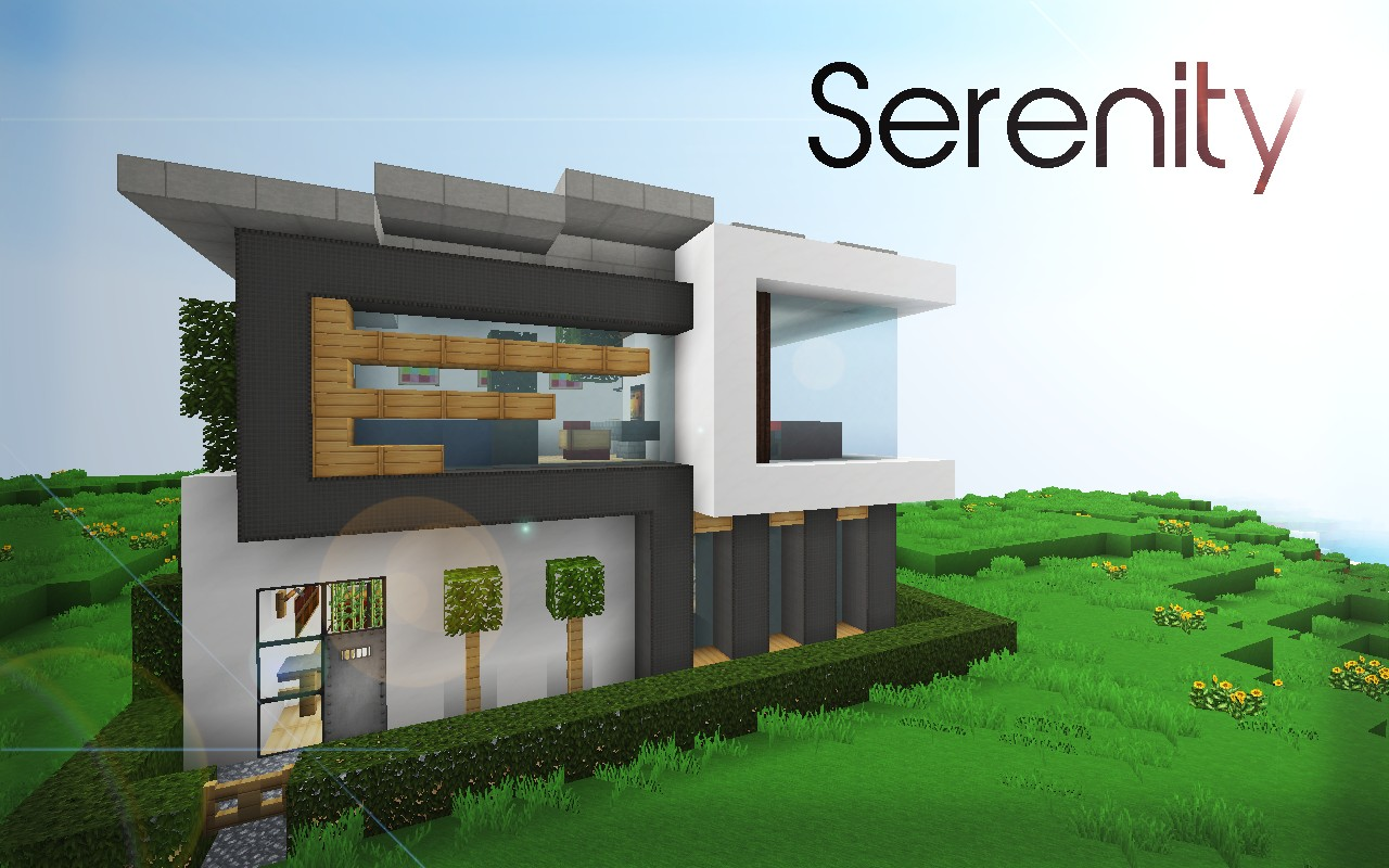 Modern nature minecraft house design important wallpapers - Maison moderne ...
