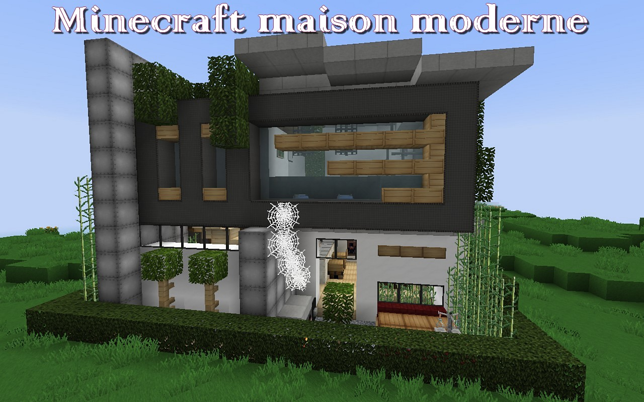 minecraft maison moderne minecraft. Black Bedroom Furniture Sets. Home Design Ideas