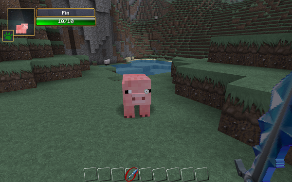 minecraft-mod-Damage Indicators-pig
