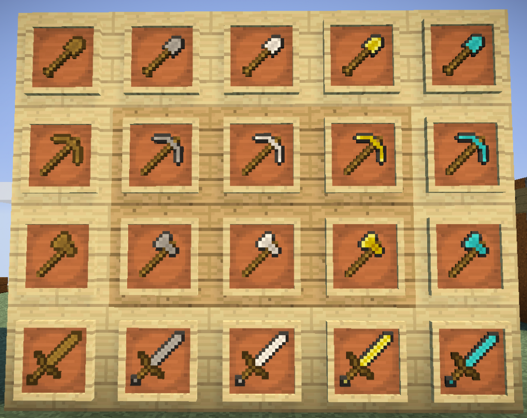 Resource pack 32x32 red pack 1 minecraft - Minecraft outils ...