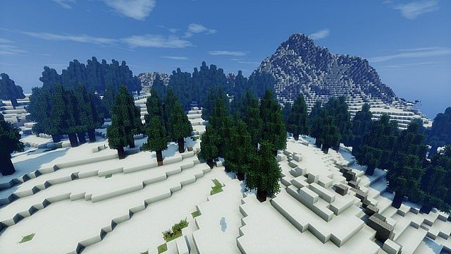 minecraft-map-custom-mountain-landscape-neige