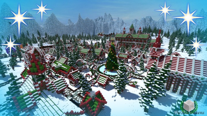 minecraft-map-thereawakens-village-pere-noel