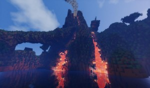 minecraft construction incroyable pirate town volcan
