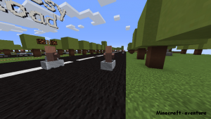 Parkour 1 Crossy road PNG voitures minecart