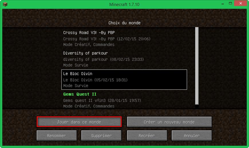 comment installer minecraft venir à la vie mod 1.7.10