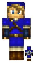 4.Minecraft skin link bleu