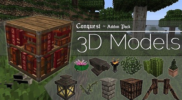 minecraft 3d model pack