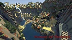 minecraft map aventure rpg francaise across the time